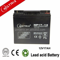 UPS system use dry battery 12v for ups 12v 17ah battery