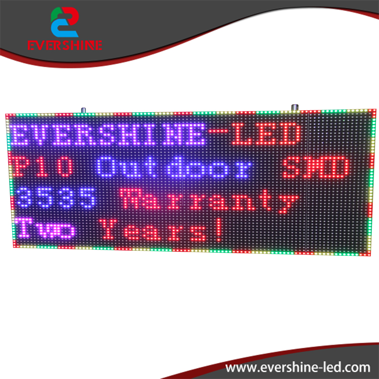 China Hot Sales Outdoor Led Banner Display Screen Board/p10mm Outdoor Advertising Moving Sign
