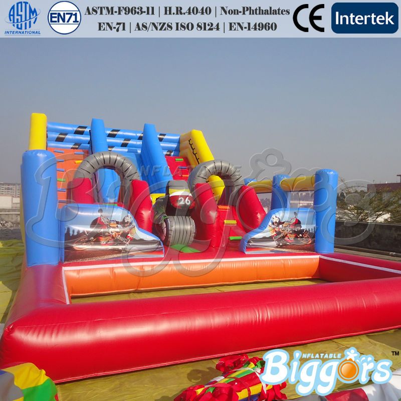 Red Giant Inflatable Pool Slide For Adults And Kids Outdoor