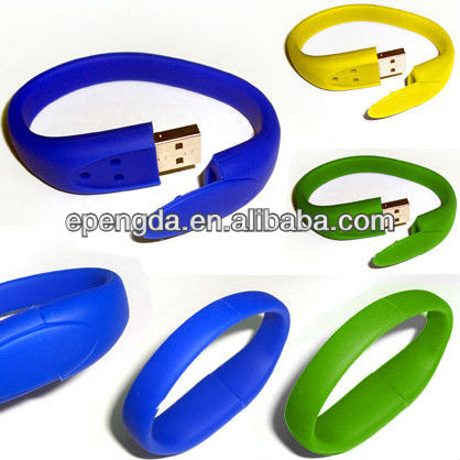 colorful promotional bracelet usb flash drive 2gb 4gb,silicone bracelet with usb flash drive 2gb,rubber bracelet usb flash drive