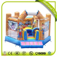 NEVERLAND TOYS Inflatable Pirate Bouncer Six Sides Inflatable Jumping Castle Indoor Inflatable Trampoline for Children