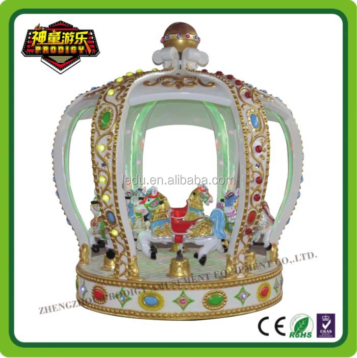 children commercial indoor playground equipment small carousel ride at factory price