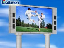 Alibaba 2012 hot sale Outdoor video full color advertising PH12mm projector screen for led projector