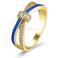 Gold Plated Inlaid with Zircon Jewelry Women Gift Ring