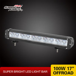 Super brightness one row offroad lamp 17 inch 100W cree led light bar