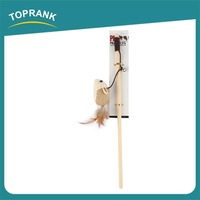 TOPRANK Supply Quality Wholesale Lovely Animal wooden Crazy Cat Rod