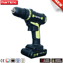 21V Power Tools Cordless Drill with Rechargeable 1.5Ah Battery