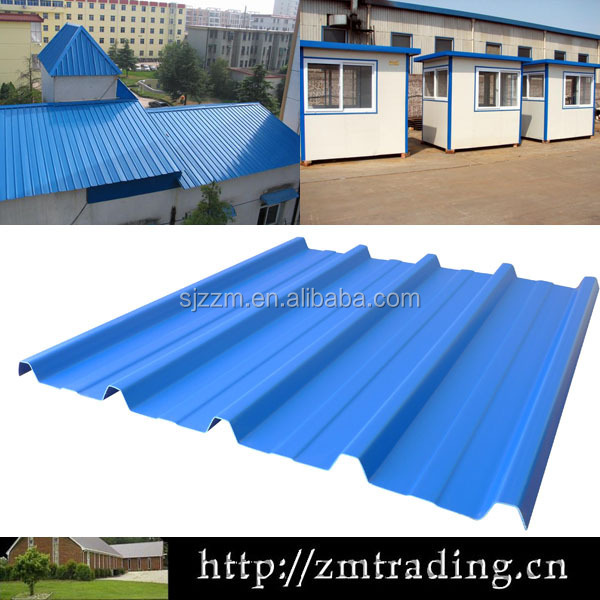 corrugated steel plate glazed type of roof tiles