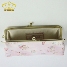 PU Material Fabric Customized Thermal Transfer Printing Cosmetic Bag