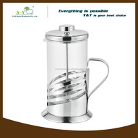 2015 hot sale pyrex coffee plunger percolator