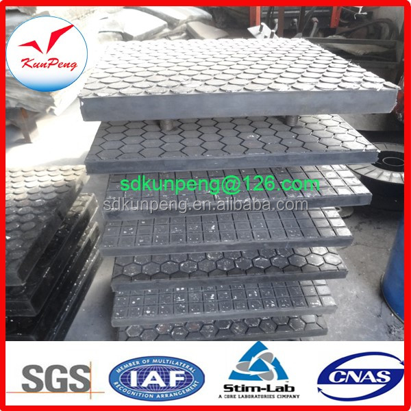 High anti-impact ceramic & rubber lining wear panel