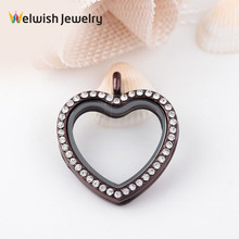 New China Supply Heart Shape Charm Floating Locket For Girls