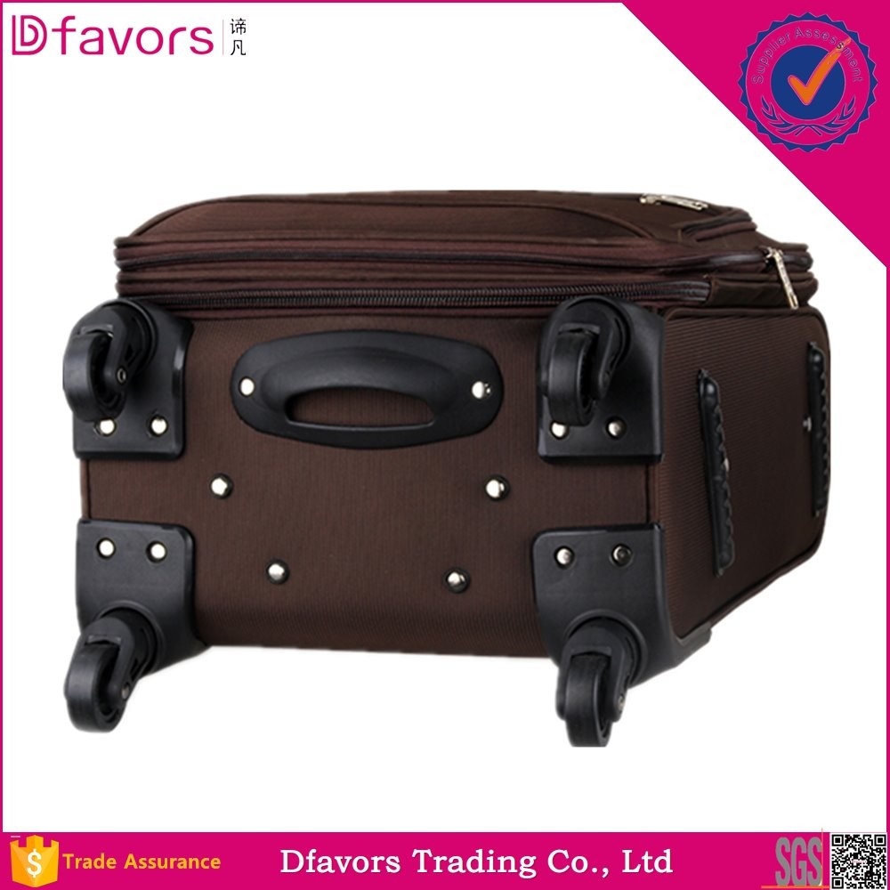 New design auto parts luggage with polyester lining hot sale africa travel luggage 600d polyester fabric suitcase luggage