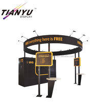 2018 new design tradeshow display booth with hanging sign for exhibition booth and stall