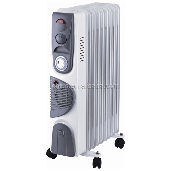 1500W TALL OIL FILLED RADIATOR FREE STANDING ELECTRIC HEATER WHITE