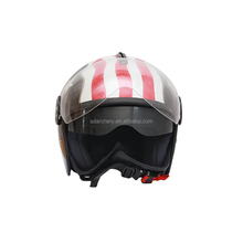 Motorcy safety helmet open face vintage filp up helmet