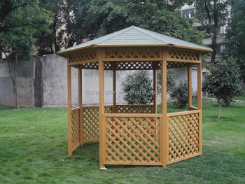 Outdoor octagonal gazebo High quality garden wood gazebo Wooden garden shed