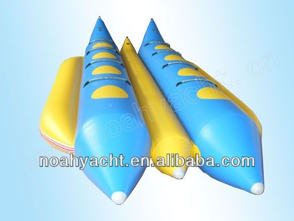 0.9mmPVC, CE, banana boat 3.7-6.7M,inflatable boat,water game tube