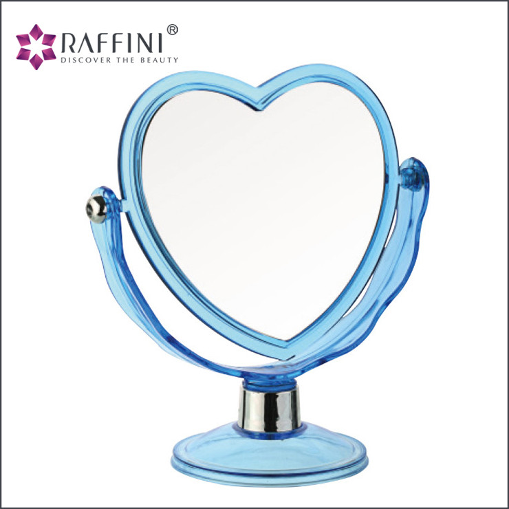 2017 new Latest Trends Heart-shaped plastic Vacuum plate Table Ideal Mirror