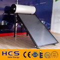 2017 China flat panel solar hot water heater with blue chorme collector