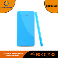 Popular 5200mAh Universal Power Bank Backup External Battery Pack Portable USB Charger - Blue