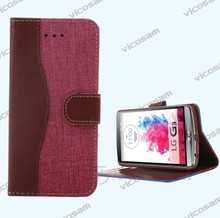 Flip Wallet PU Leather waterproof case for lg optimus