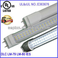 CE cul ul listed led tube lights 2ft 3ft 4ft 5ft 6ft 8ft 5 years warranty 110lm/w