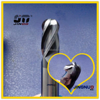 JINOO High Performance end mill tungsten carbide spherical milling cutter factory