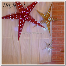 3D Star Lanterns Hanging Paper Lampshade In Malls SD108