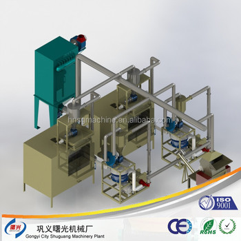 Aluminum foil separating recycling machine for aluminum and plastic