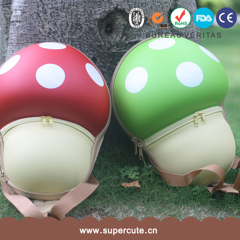 Cute school bag Super Mario Bros EVA Mushroom Green 3d eva backpack