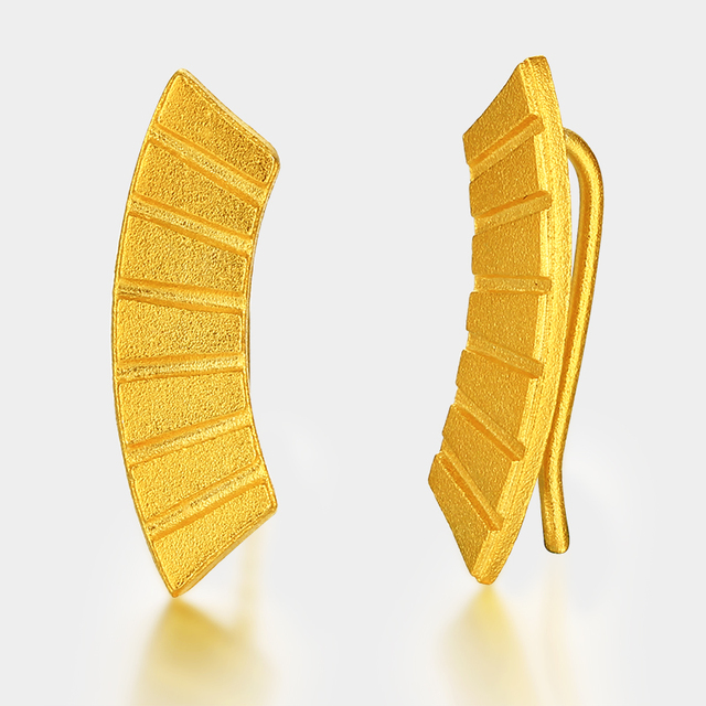 Gold plated fashion unique piano earrings hook types 2017 for women