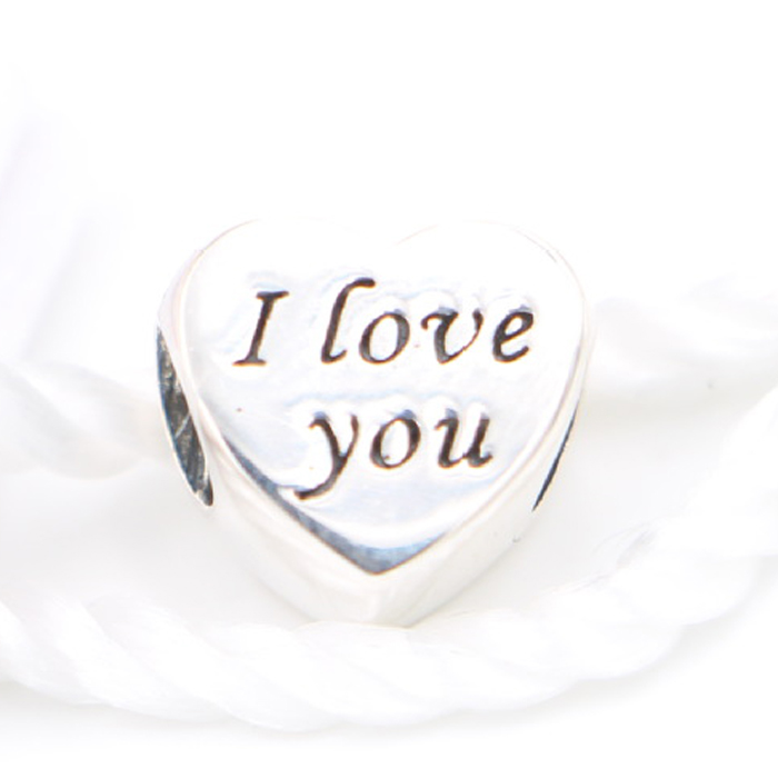 Silver 925 Charms I love you charms