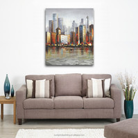 High Quality Handmade Modern Skyscraper SH059 Abstract City landscape Canvas Art Wall Oil Painting