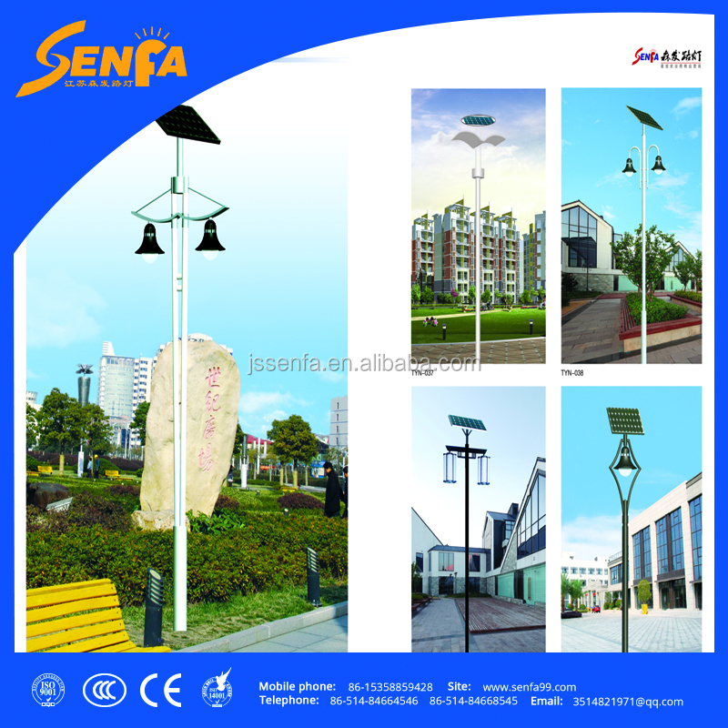 Decorative Led Garden Solar Street Lights Pole with CE CCC RHOS certificate
