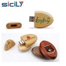 Oval Shape Wooden USB Flash Drive, Wooden Usb Memory disk for giveaway gift