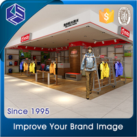 2016 new product garments showroom display clothing showroom design