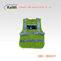 yongkang road safety products high visibility safety vest mesh fabric reflective vest