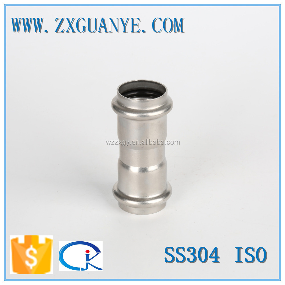 V Profile 304 Stainless Steel Press Coupling