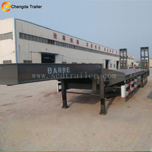 Best selling truck trailer type and steel material tri-axle heavy duty equipment transporter SCD semi low bed trailer for sale