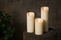 Tecmo Enkinddle 3*5inch led candle with timer and 3D flameless moving wick led candle
