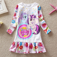 The newly designed pop girl princess with long-sleeve for 1-6 years old babies