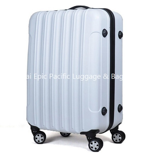 Fashion White Color hard shell polycarbonate luggage