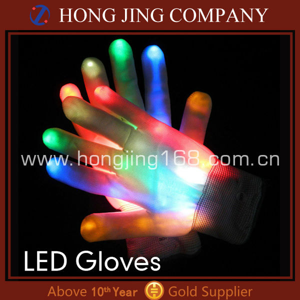 Promotional multicolor led gloves