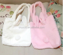 New Cute Candy Color Large Rabbit Soft Plush Bag Creative Simulated Dog Head Backpack Girlfriend Valentine 's Day Gift Plush Bag