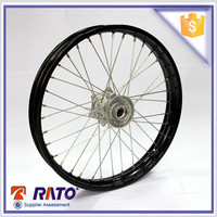 China 2.15*18 black front disc-brake motorcycle wheel