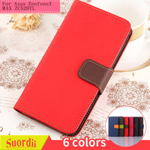 SUD Wholesale Alibaba Card Holder PU Wallet Flip Leather Mobile Phone Cover Case for Asus Zenfone3 MAX ZC520TL