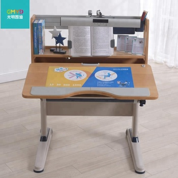 GMYD Height Adjustable Study Desk Kids Study Table and Chair