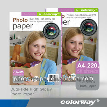 220gsm Double-side High Glossy Inkjet Photo Paper (Cast Coated)