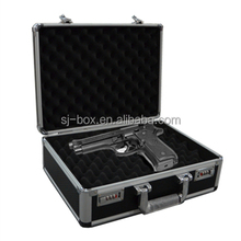 Hot sale lockable aluminum short gun case pistol case